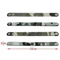 Jouets et kermesse, Bracelet militaire 22cm vendu par 12, 2723-LOT, 0,70€