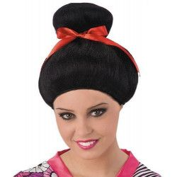Perruque noire de geisha enfant Accessoires de fête 2762-