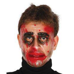 Masque transparent homme avec sang Accessoires de fête 2791