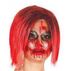 Masque transparent femme avec sang Accessoires de fête 2792