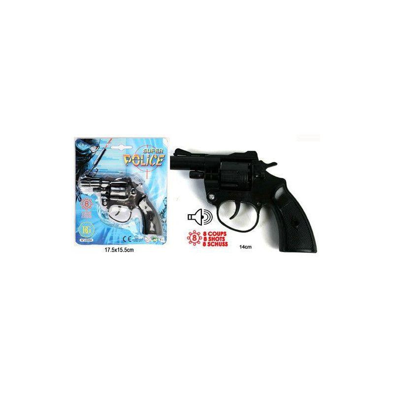 Pistolet à amorces huit coups Jouets et articles kermesse 28056-UNITE