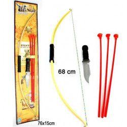 Arc indien 68 cm avec flèches et poignard Jouets et kermesse 28100