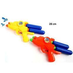 Pistolet à eau double réservoir 28 cm Jouets et kermesse 28223