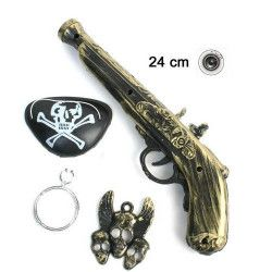 Panoplie pistolet bruiteur pirate 24 cm Jouets et articles kermesse 28568