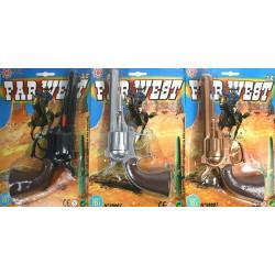 Pistolet cowboy à amorces 8 coups 22 cm  3588270028667