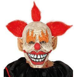 Masque bouffon latex avec cheveux Accessoires de fête 2869