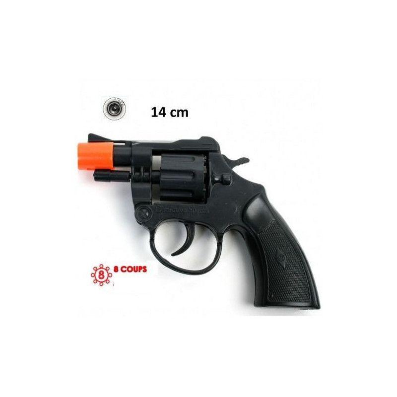 Pistolet police bruiteur 14 cm Jouets et articles kermesse 28742