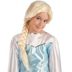 Perruque blonde princesse des neiges Accessoires de fête 2899