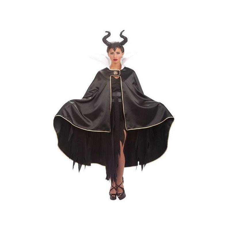 Cape sorcière en satin noir avec col femme Déguisements 29005
