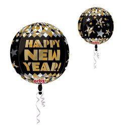 Ballon ORBZ hélium Happy New Year Déco festive 2941201