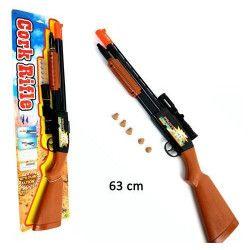 Pistolet à pompe lance bouchons avec viseur Jouets et kermesse 29435