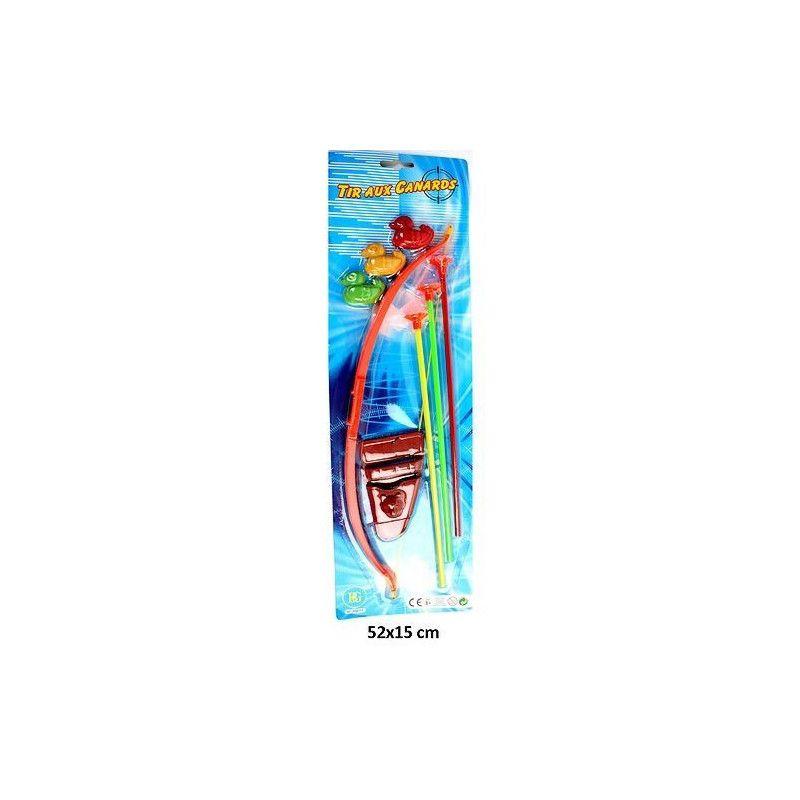Arc 42 cm avec flèches-canards-carquois Jouets et articles kermesse 30011