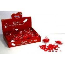 Boite coeur avec confettis de savon Déco festive 3016356