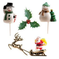 Déco festive, Kit de décoration Noël pour gâteau, 302047, 3,90€