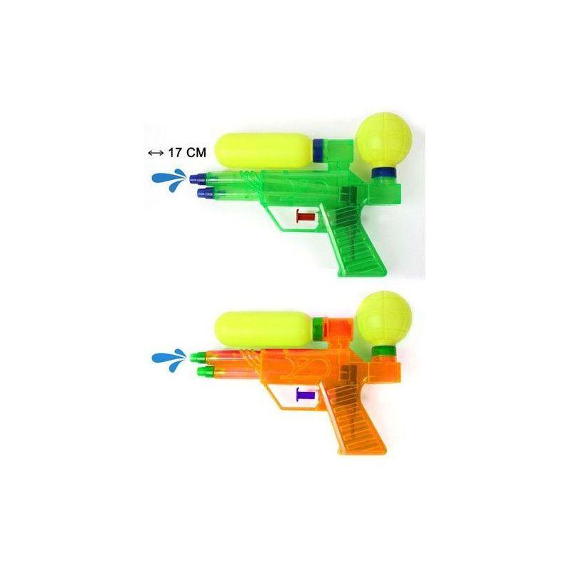 Pistolet à eau 17 cm 2 jets Jouets et articles kermesse 30332