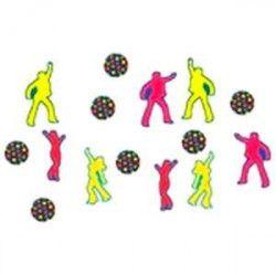 Déco festive, Sachet de confettis danseurs disco, 303336, 1,20€