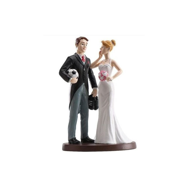 Figurine décoration couple mariés football Déco festive 305010