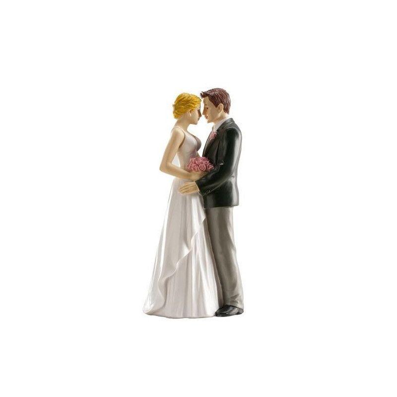 Figurine décoration couple de mariés amoureux Cake Design 305045