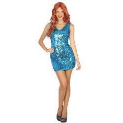 Déguisements, Déguisement robe disco bleue adulte taille S, 30568, 19,80€