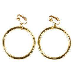 Boucles d'oreilles anneaux dorés Accessoires de fête 30702