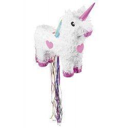 Pinata licorne blanche à tirer Déco festive 30932