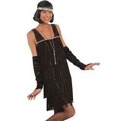 Déguisements, Déguisement charleston noire femme taille XL, 3125053106, 49,90€