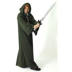 Déguisements, Cape noire de moine avec capuche taille adulte, 312725391, 39,90€