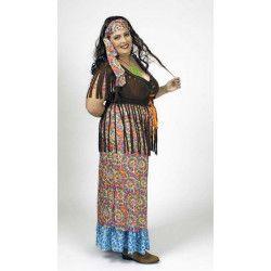 Déguisement robe arc en ciel hippie femme taille XXL Déguisements 3147231207