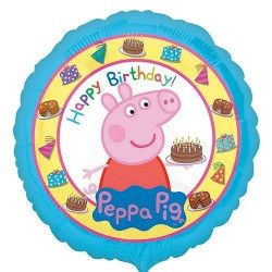 Ballon hélium Happy Birthday Peppa Pig Déco festive 3159201