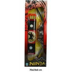 Accessoires de fête, Panoplie arc Ninja 65 cm avec flèches et carquois, 31834, 7,90€