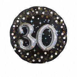 Ballon aluminium rond holographique 30 ans Déco festive 3215101