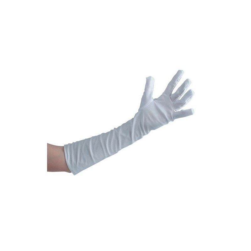 Gants blancs longueur 50 cm Accessoires de fête 3240
