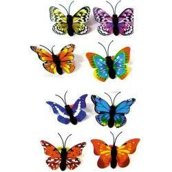 Jouets et kermesse, Bijou bague fantaisie ajustable papillon vendu par 48, 32404-LOT, 0,50€