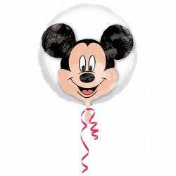 Ballon double transparent avec tête de Mickey 60 cm Déco festive 3250901