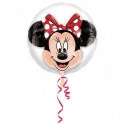 Ballon double transparent avec tête de Minnie 60 cm Déco festive 3251201