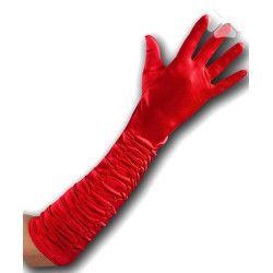 Gants longs rouge Accessoires de fête 3260