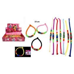 Bijou bracelet tresse indienne 19 cm vendu par 60 Jouets et articles kermesse 32657-LOT