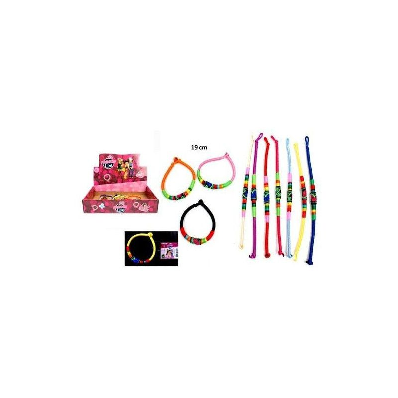 Bijou bracelet tresse indienne 19 cm vendu par 60 Jouets et kermesse 32657-LOT