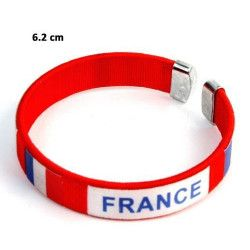 Bracelet supporter France 6 cm vendu par 12 Jouets et kermesse 32756-LOT