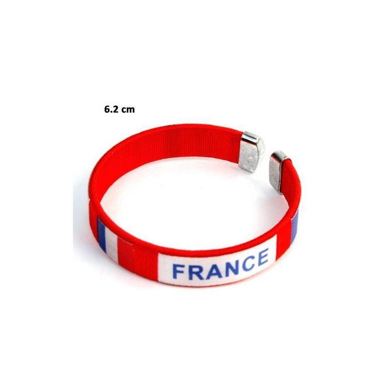 Bracelet supporter France 6 cm vendu par 12 Jouets et articles kermesse 32756-LOT