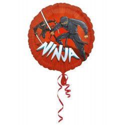 Ballon aluminium rouge ninjae Déco festive 3281701