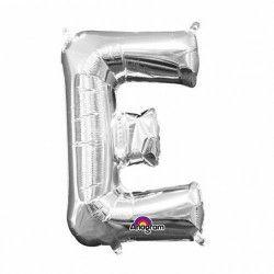Ballon lettre E polyamide argent 40 cm Déco festive 3301911