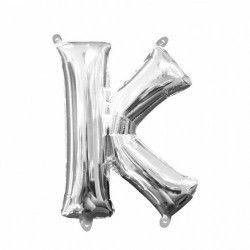Ballon lettre K polyamide argent 40 cm Déco festive 3303211