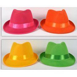 Accessoires de fête, Chapeau borsalino feutre avec ruban, 33161, 1,95€