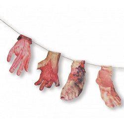 Déco festive, Guirlande mains et pieds coupes halloween 180 cm, 333021, 3,50€