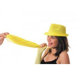 Cravate fluo jaune UV néon Accessoires de fête 3331