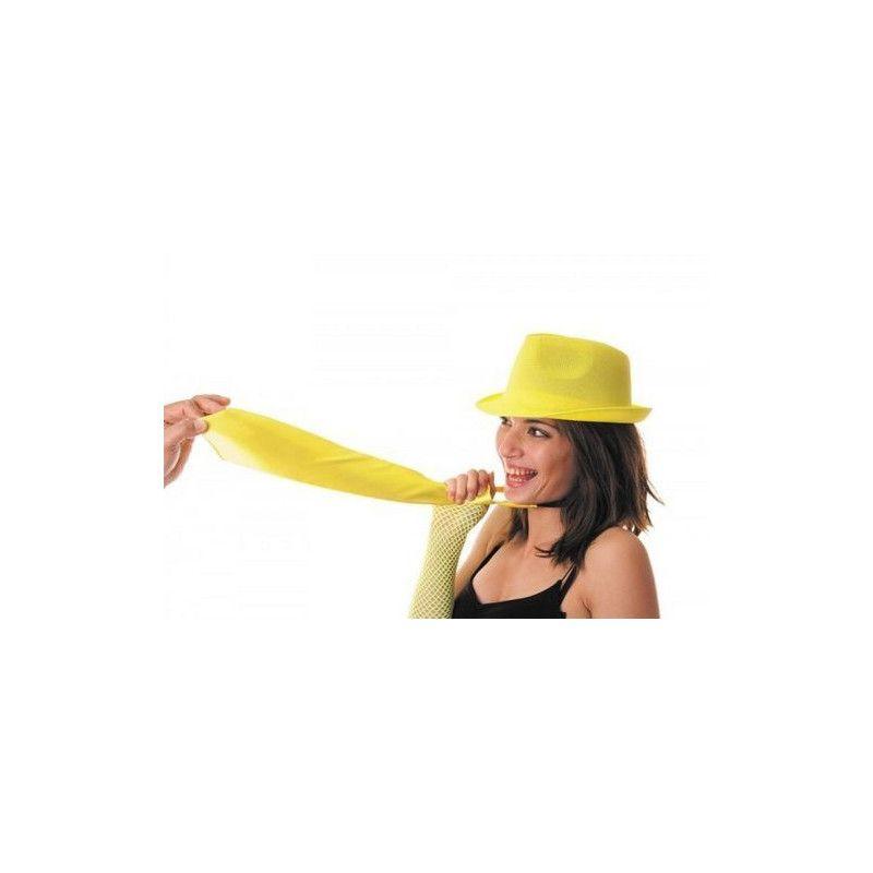 Accessoires de fête, Cravate fluo jaune UV néon, 3331, 4,50€