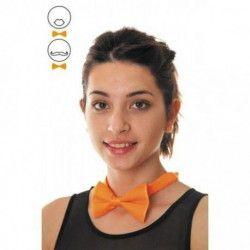 Noeud papillon orange fluo Accessoires de fête 33311