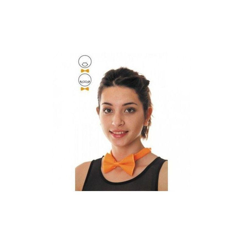 Accessoires de fête, Noeud papillon orange fluo, 33311, 2,90€