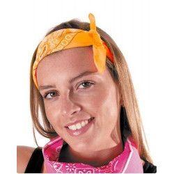 Bandana néon orange Accessoires de fête 333142